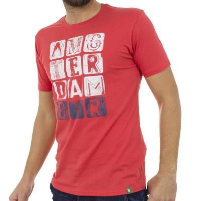 aea30042bbb9 Ανδρικό Κοντομάνικη Μπλούζα T-Shirt BATTERY 21K900781-38 Κόκκινο