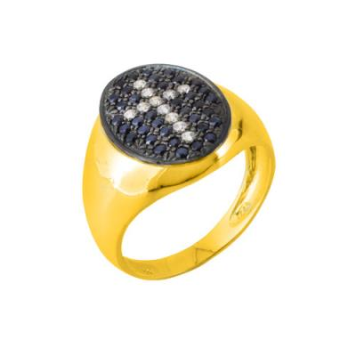 Χρυσό δαχτυλίδι chevalier Κ14 με ζιργκόν 7f353a37c12