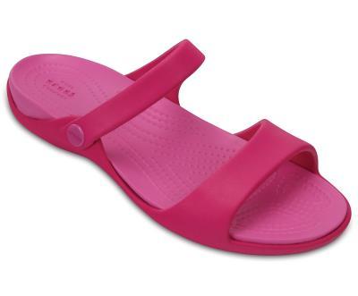 f5cf01b57c6 Crocs, CROCS Cleo V Sandals 204268 Paradise Pink, Γυναικεία CROCS Σαγιονάρα