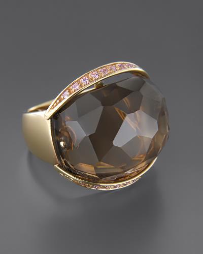 Δαχτυλίδι από ροζ χρυσό Κ18 με Τοπάζι και Ζιργκόν 7c6c8e4a410