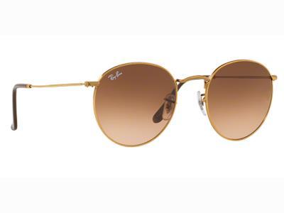 254a814f7a Γυαλιά ηλίου Ray-Ban Round Metal RB 3447 9001 A5 Χρυσό Καφέ Ροζ Ντεγκραντέ  (9001