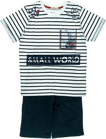 6076243c240 Nek παιδικό σετ μπλούζα-παντελόνι βερμούδα «Small World»