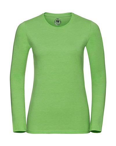 689ccf2ab8cd Γυναικεία Μακρυμάνικη Μπλούζα HD Tee Russell R-167F-0 - Green Marl
