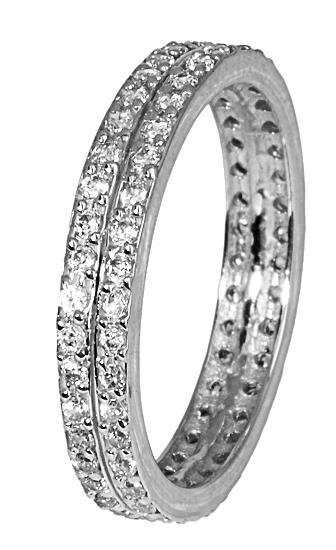 Λευκόχρυσο σειρέ δαχτυλίδι με πέτρες ζιργκόν 017280 Χρυσός 14 Καράτια ee3683cbda8