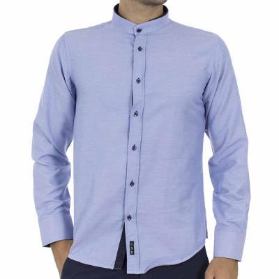 Ανδρικό Μακρυμάνικο Πουκάμισο με Γιακά Μάο CND Shirts 2550-3 Sky Blue e7952624d2e