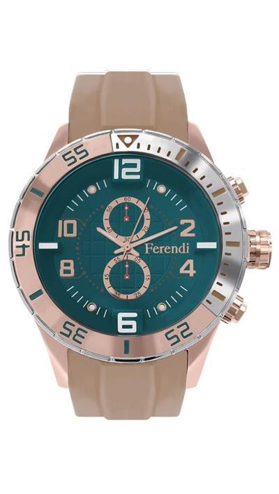 Ρολόι Ferendi Decerto με μπεζ λουράκι 1401-206 75a4a3dca31