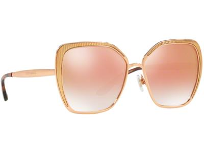 776bc11a83 Γυαλιά ηλίου Dolce Gabbana DG 2197 1298 6F Ροζ Χρυσό Ροζ Ντεγκραντέ  Καθρέφτης (1