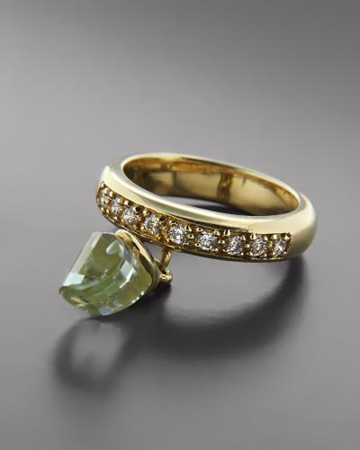 Δαχτυλίδι χρυσό Κ14 με Τοπάζι και Ζιργκόν f81500fb352