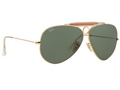 2a8e1907ed Γυαλιά ηλίου Ray-Ban Shooter RB 3138 001 Χρυσό Γκρι Πράσινος (001)  Κρύσταλλο 100