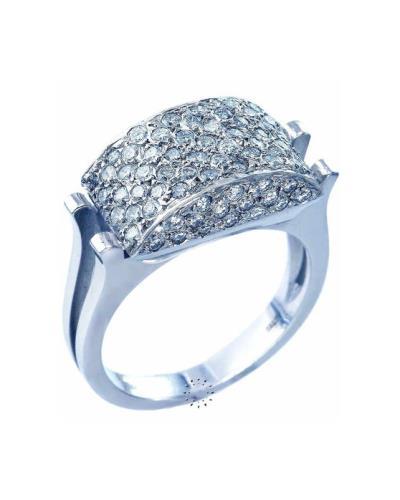 Δαχτυλίδι 18Κ Λευκόχρυσο με Διαμάντια 5c221ec584f