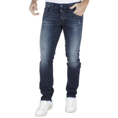 Ανδρικό Τζιν Παντελόνι Super Slim COVER TEDDY E2479 Μπλε 91ce0ae696e