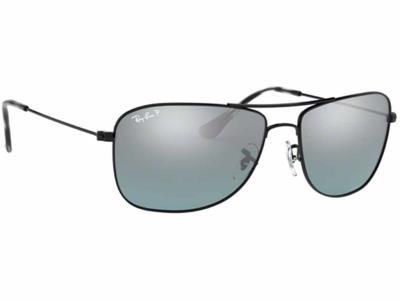 0072efecd4 Γυαλιά ηλίου Ray-Ban RB 3543 002 5L Polarized Μαύρο Γκρι Ασημί Ντεγκραντέ  Καθρέφ