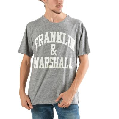Franklin   Marshall Men s T-shirt TSMF249ANW18-2300 - GREY HEATHER 6fc9f0d918d