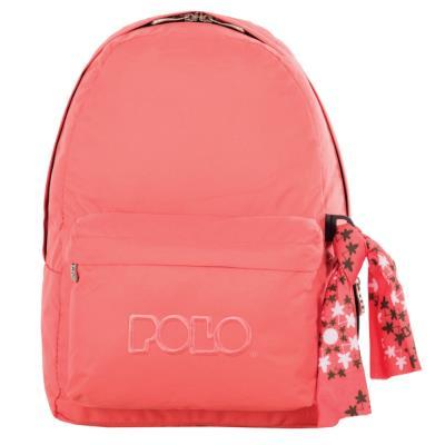 98ebc78827 Τσάντα σακίδιο με μαντήλι πορτοκαλί 9-01-135-43 Polo