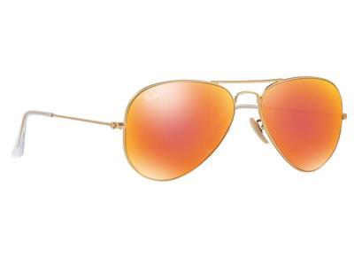 4ee7185893 Γυαλιά ηλίου RayBan Aviator Flash Lenses 3025 112 4D Polarized Χρυσό  Ματ Κόκκινο