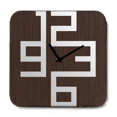 Retro ξύλινο Ρολόι τοίχου Modern Brown 48cm-60cm - L - 48 x 48 cm 3482b7c3c3b