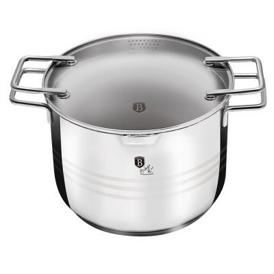 BH-1390 Κατσαρόλα Inox για Ζυμαρικά   Ρύζι 2σε1 22cm με Γυάλινο Καπάκι f7d5483baab