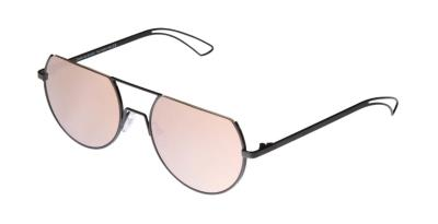 fd5a404ced Sunglasses Charlie Max CM PONTACCIO BLP23 Women Black Round Pink Mirrored