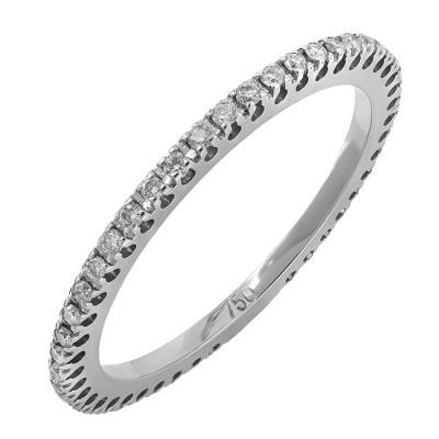 Ολόβερο δαχτυλίδι λευκόχρυσο Κ18 029247 029247 Χρυσός 18 Καράτια 75956794b72