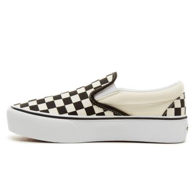 d503858025 Vans Checkerboard Classic Slip-On Platform Shoes V0018EBWW - BLACK WHITE  CHECKER