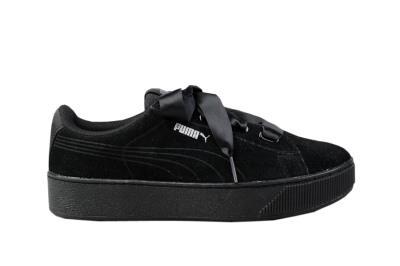 f8217c7f78863 Γυναικεία Sneakers Puma Vikky Platform Ribbon S Μαύρο