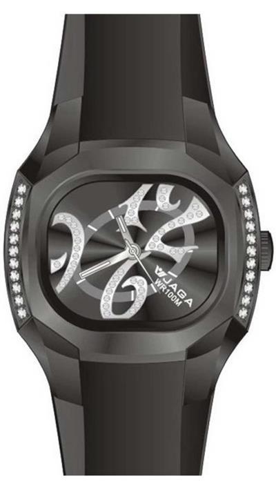 Ρολόι JAGA με μαύρο λουράκι AQ113 08a4880857a