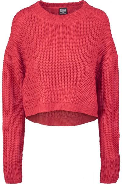 9e1c9c949bf7 Γυναικείο φούτερ πλεκτό Oversize Urban Classics TB2359 Fire Red