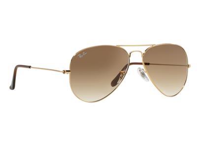 213928ca47 Γυαλιά ηλίου RayBan Aviator Classic 3025 001 51 Χρυσό Καφέ Ντεγκραντέ  (001 51) Κ