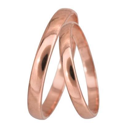 Ροζ χρυσές βέρες γάμου Κ14 024061 024061 Χρυσός 14 Καράτια μεμονωμένο  τεμάχιο 46084b4e1d5