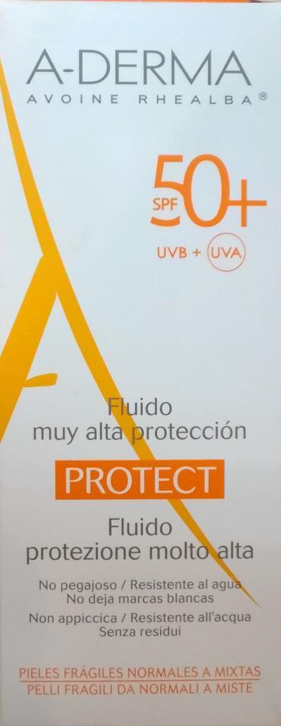 A-Derma A-Derma SPF 50+ Fluid Protect Sunscreen 40ml - Αντιηλιακή  λεπτόρρευστη κ df15a867529