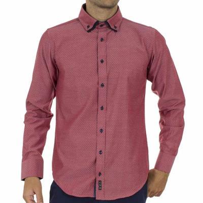 4875790e86a6 Ανδρικό Μακρυμάνικο Πουκάμισο CND Shirts 700-6 σκούρο Ροζ