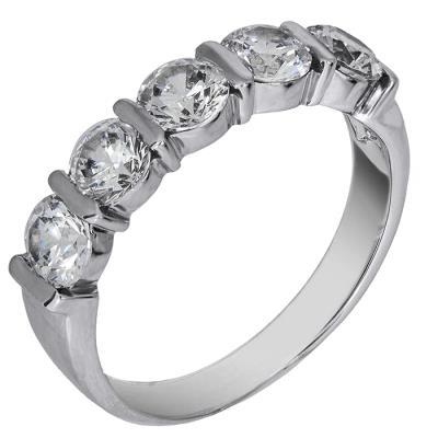 Λευκόχρυσο δαχτυλίδι σειρέ 14 καράτια 002141 Χρυσός 14 Καράτια 5a080a06609