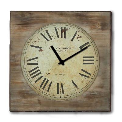 Rustic ξύλινο Ρολόι τοίχου Roman Numbers 48cm-60cm - L - 48 x 48 cm 5e7300ba510
