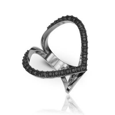 Ασημένιο δαχτυλίδι 925 με μαύρες πέτρες Swarovski AD-16010L2 7511dde2c7b