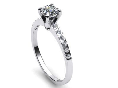 Γυναικείο μονόπετρο δαχτυλίδι σε λευκό χρυσό Κ18 με μπριγιάν 3512d3d8f4f