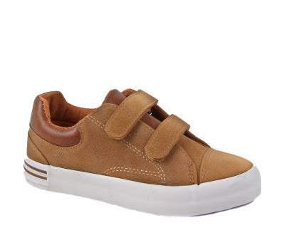 Casual παπούτσια με αυτοκόλλητα κάμελ C-C168CA 8fae9bc084a