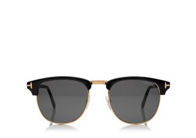b5b9fb4b20ba6 Sunglasses Tom Ford Henry TF 0248 05N Unisex Black Square G-15