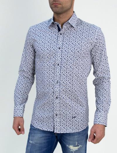 Ανδρικό πουκάμισο Ben Tailor λευκό με σχέδια 0061 29e0857f51a
