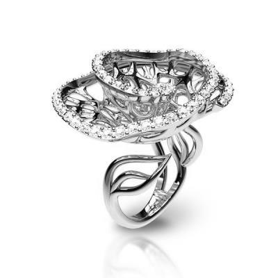 Ασημένιο δαχτυλίδι 925 με λευκές πέτρες swarovski AD-16022L1 11da22e9c92