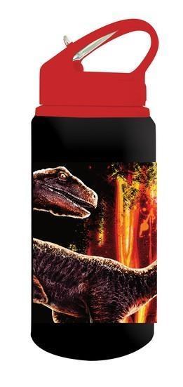 c3b2546cb87 Jurassic World Παγούρι Αλουμινίου με Καλαμάκι 500ml Μαύρο-Κόκκινο