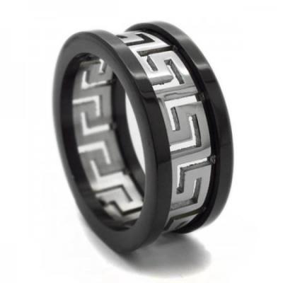 Δαχτυλίδι ανδρικό από ατσάλι με Μαίανδρο 4de8bd0cc5a