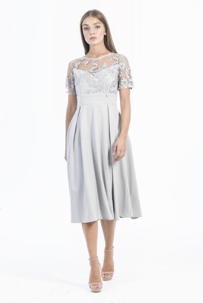 Φόρεμα κ.μ. δαντέλα κ μπούστο - 18578 35c06cfa516