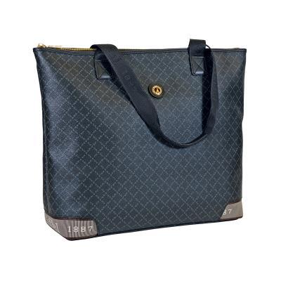 408dc23413 Τσάντα Ώμου Ημιεπαγγελματική La Tour Eiffel Logo-Δέρμα 122028 Μαύρη