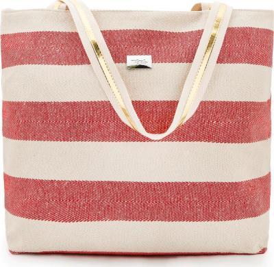 79a40a7995 Γυναικεία τσάντα θαλάσσης Verde 14-0000021 σε κόκκινο χρώμα έως 3 άτοκες  δόσεις