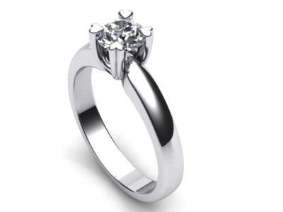 Γυναικείο μονόπετρο δαχτυλίδι σε λευκό χρυσό Κ18 με μπριγιάν 34cf4a903f1