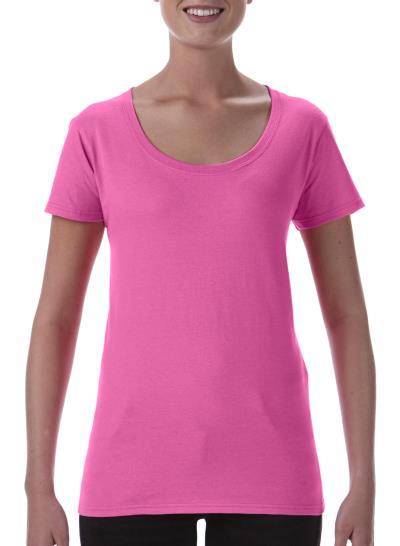 aebe46832c28 Βαμβακερό Γυναικείο T-Shirt Softstyle Gildan 64550L - Azalea