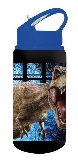 62a7e3bcd35 Jurassic World Παγούρι Αλουμινίου με Καλαμάκι 500ml Μαύρο-Μπλε