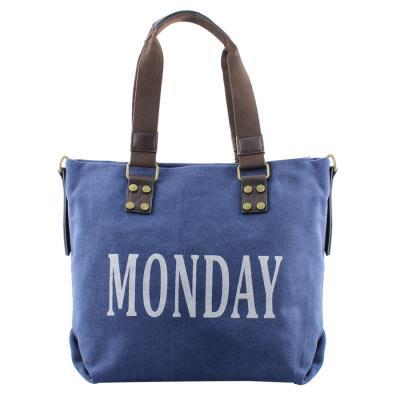 Γυναικείες τσάντες ώμου με print days Μπλε 67a94f54e8d