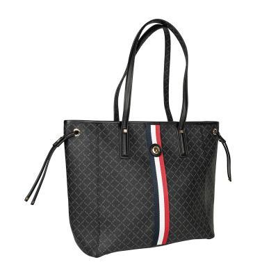 04d631219c Τσάντα Ώμου Με Ρίγα La Tour Eiffel Logo-Δέρμα 151006 Μαύρη