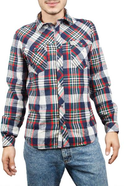 a43ef5a7bcc5 Ανδρικό multi καρό πουκάμισο φανέλα - w17170-attic-mu